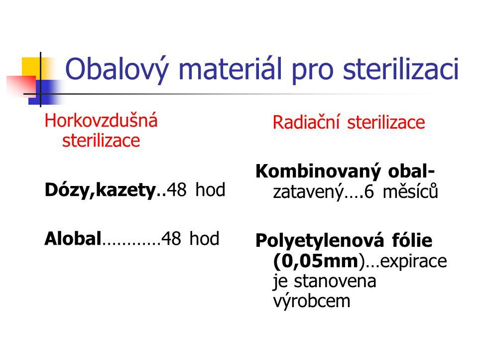 Obalový materiál pro sterilizaci