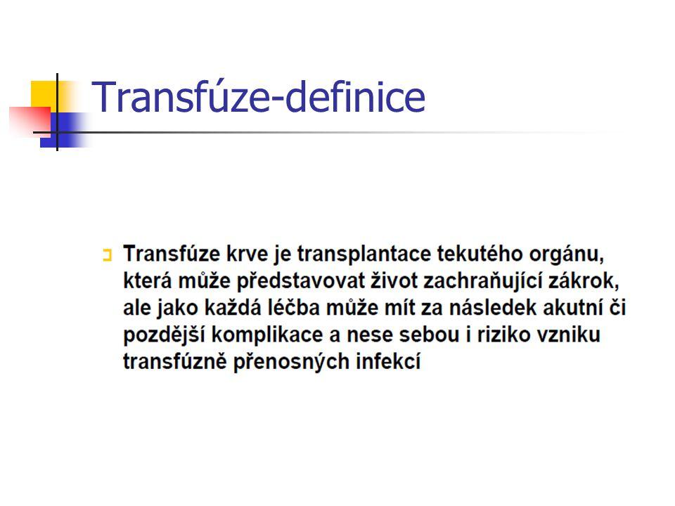 Transfúze-definice