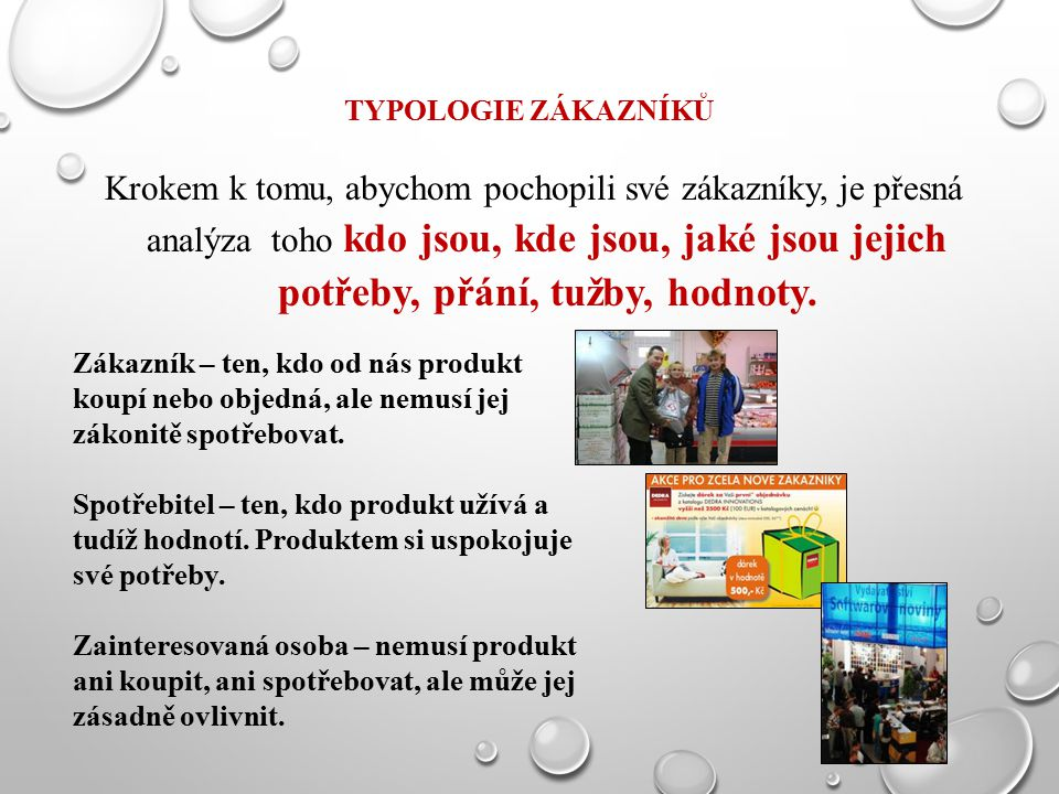 Typologie zákazníků