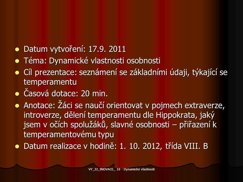 VY_32_INOVACE_ 10 - Dynamické vlastnosti