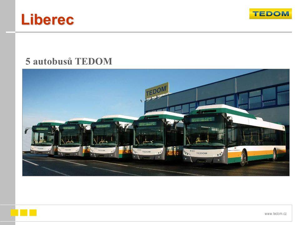 Liberec 5 autobusů TEDOM C12 G
