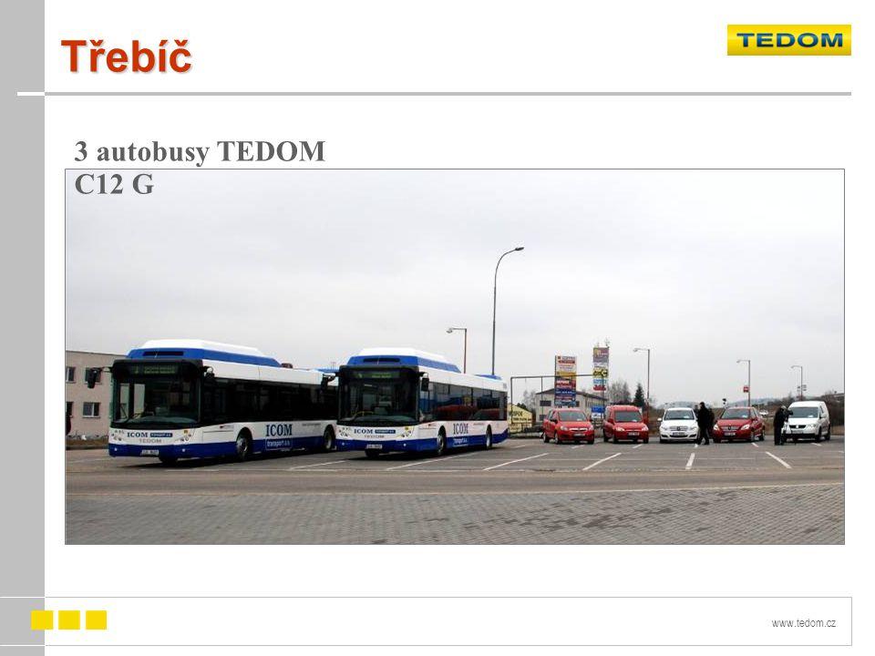 Třebíč 3 autobusy TEDOM C12 G