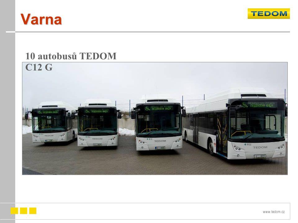 Varna 10 autobusů TEDOM C12 G