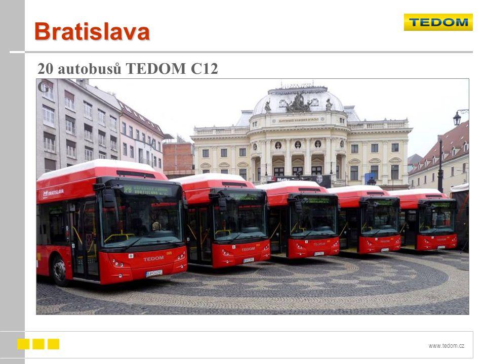 Bratislava 20 autobusů TEDOM C12 G