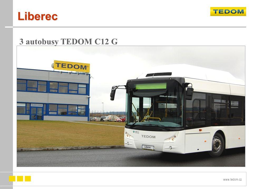 Liberec 3 autobusy TEDOM C12 G