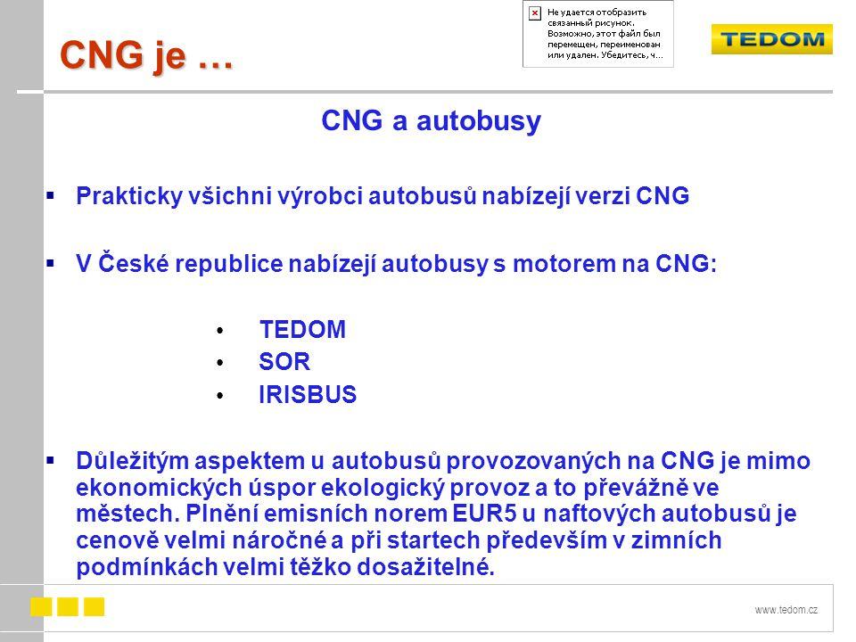 CNG je … CNG a autobusy. Prakticky všichni výrobci autobusů nabízejí verzi CNG. V České republice nabízejí autobusy s motorem na CNG: