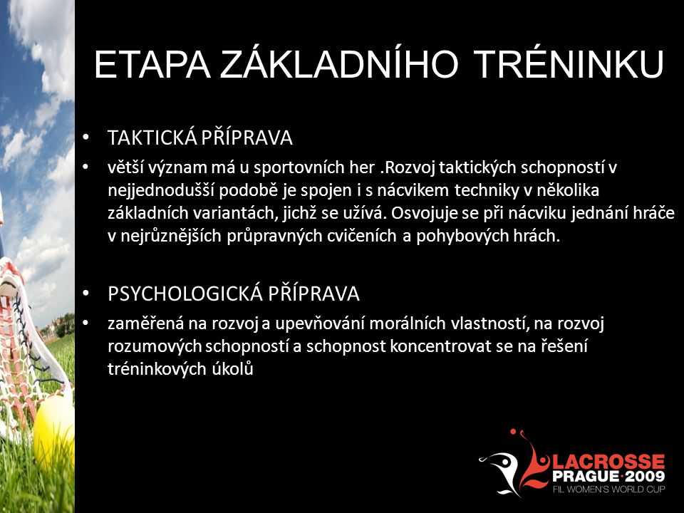 ETAPA Základního tréninku
