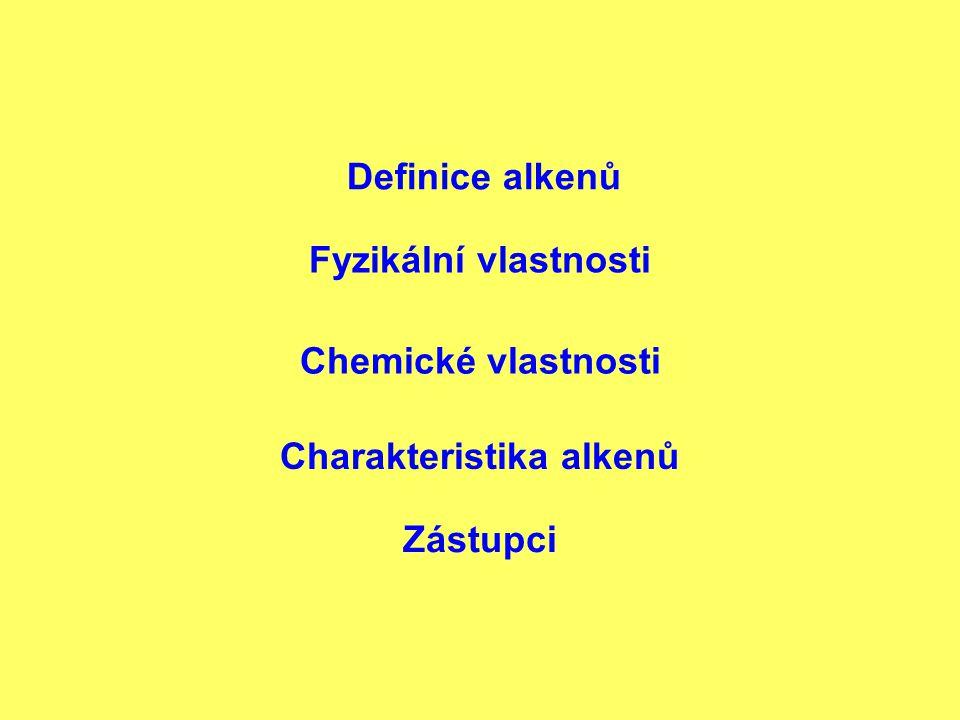 Charakteristika alkenů