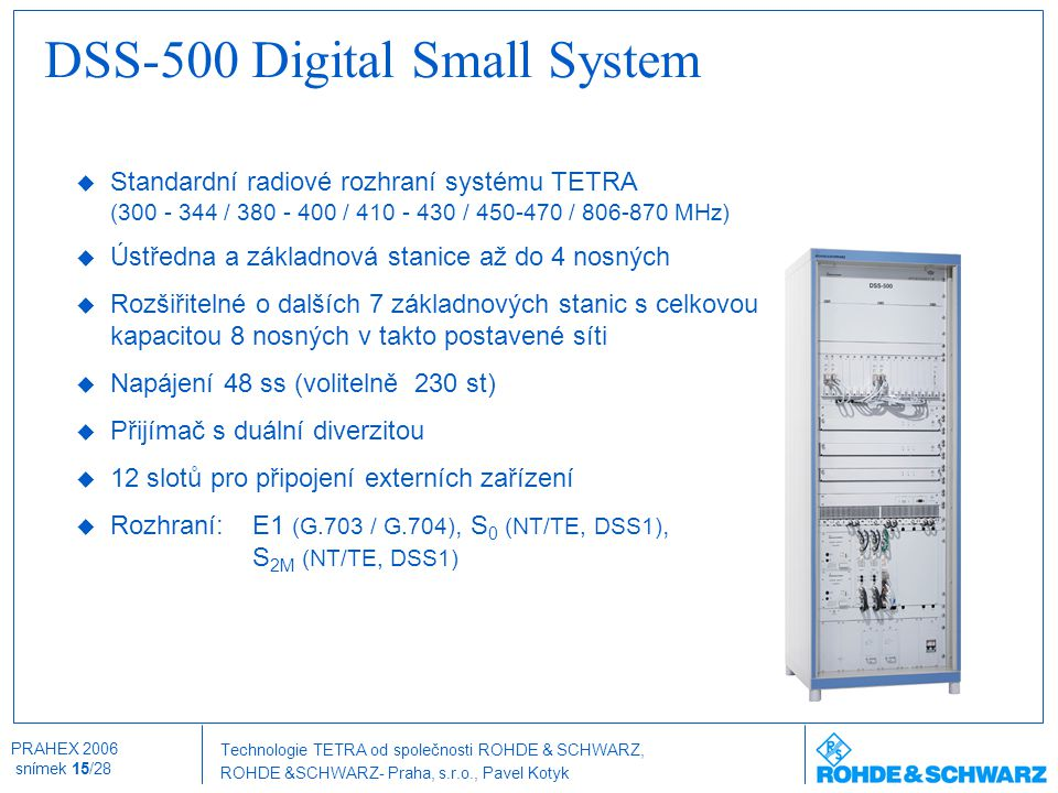 DSS-500 Digital Small System