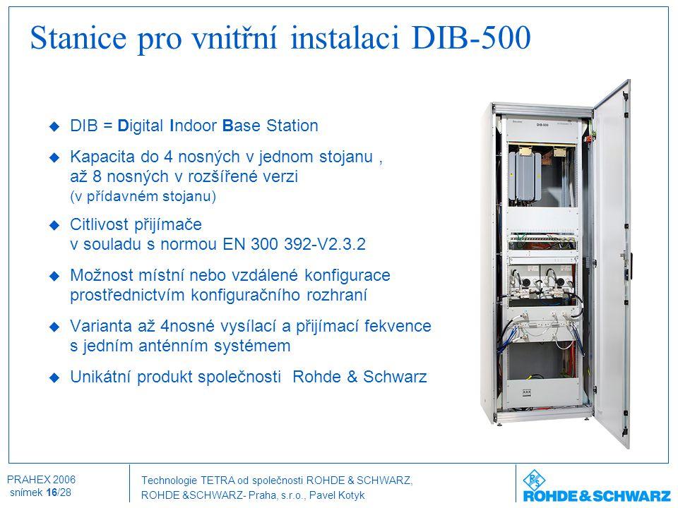 Stanice pro vnitřní instalaci DIB-500