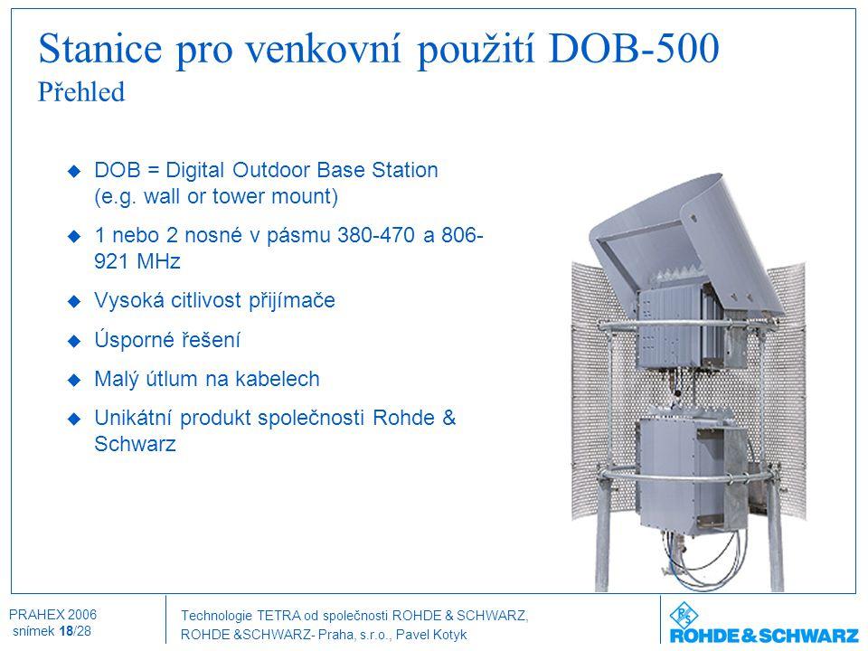 Stanice pro venkovní použití DOB-500 Přehled