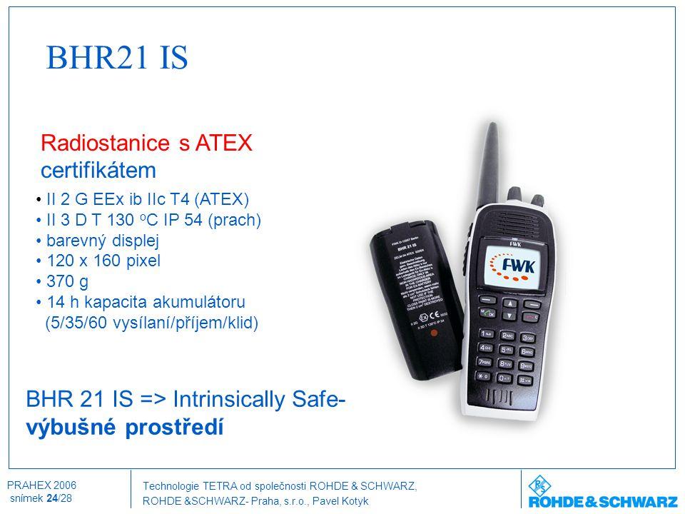 BHR21 IS Radiostanice s ATEX certifikátem