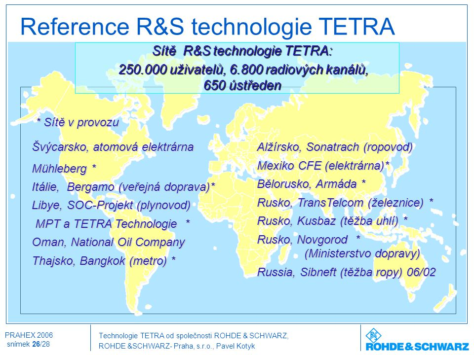 Reference R&S technologie TETRA