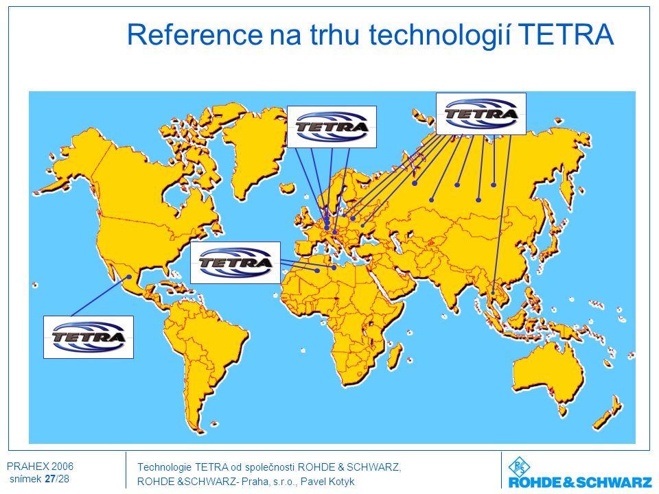 Reference na trhu technologií TETRA