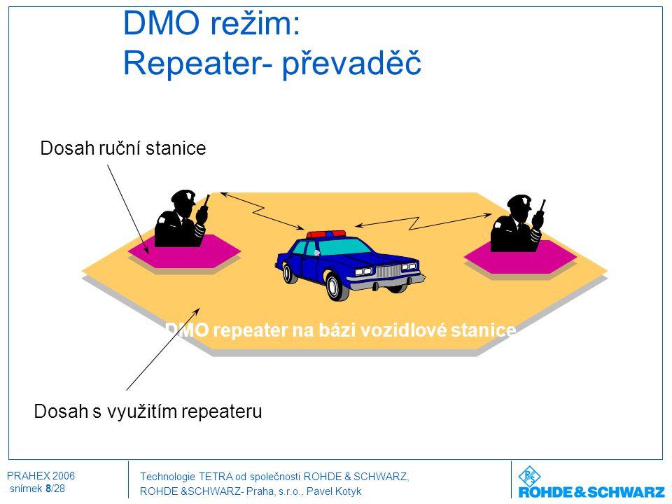 DMO režim: Repeater- převaděč