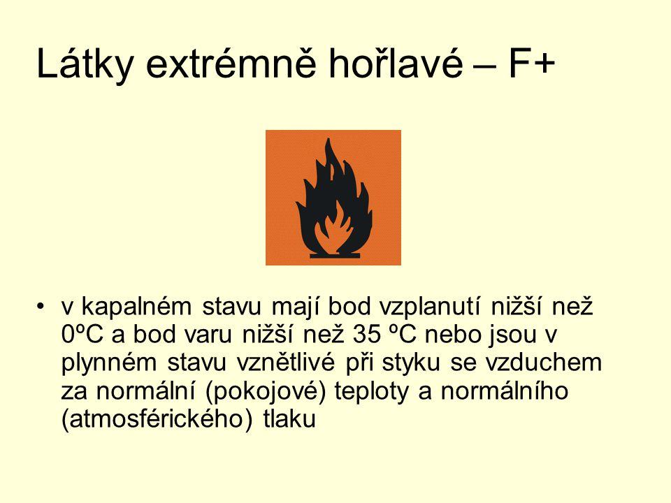 Látky extrémně hořlavé – F+