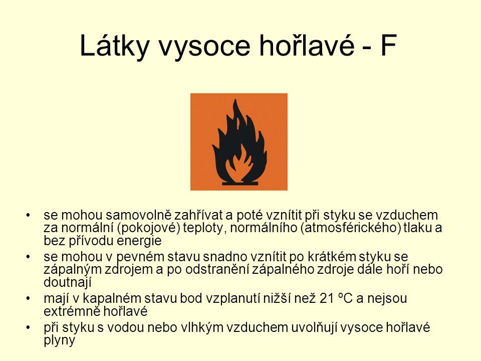 Látky vysoce hořlavé - F