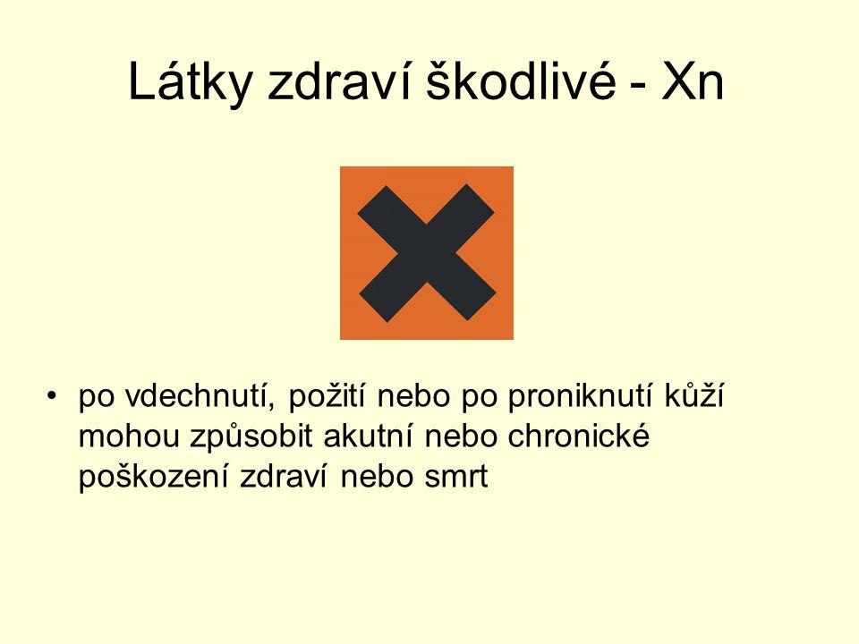 Látky zdraví škodlivé - Xn