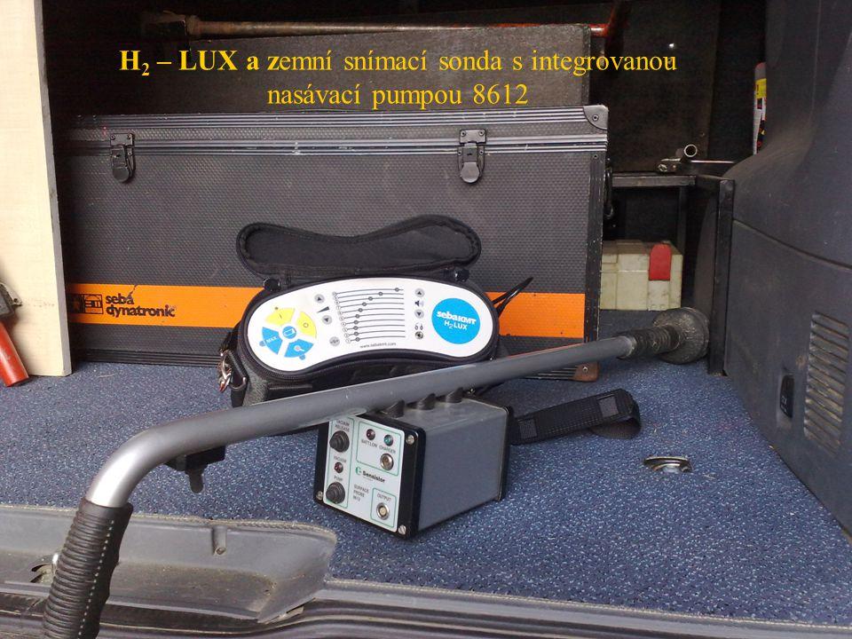 H2 – LUX a zemní snímací sonda s integrovanou nasávací pumpou 8612