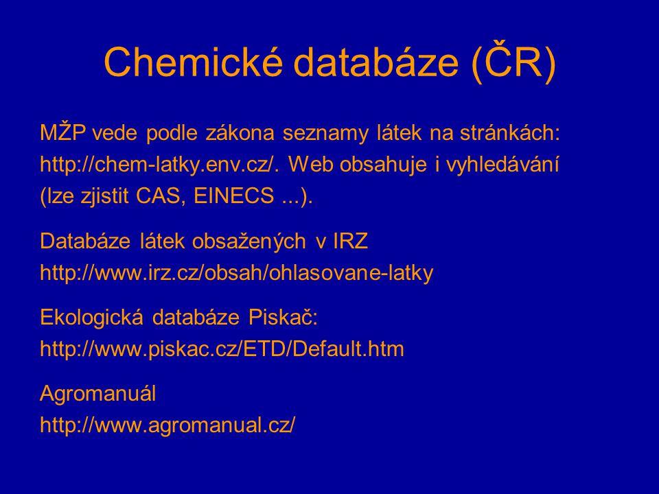 Chemické databáze (ČR)