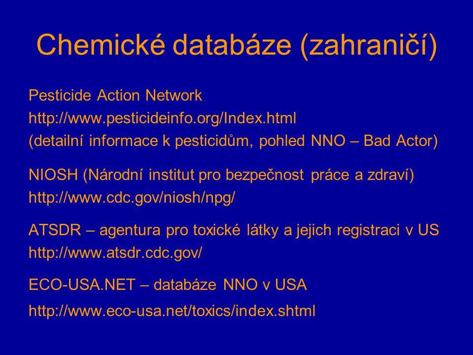 Chemické databáze (zahraničí)