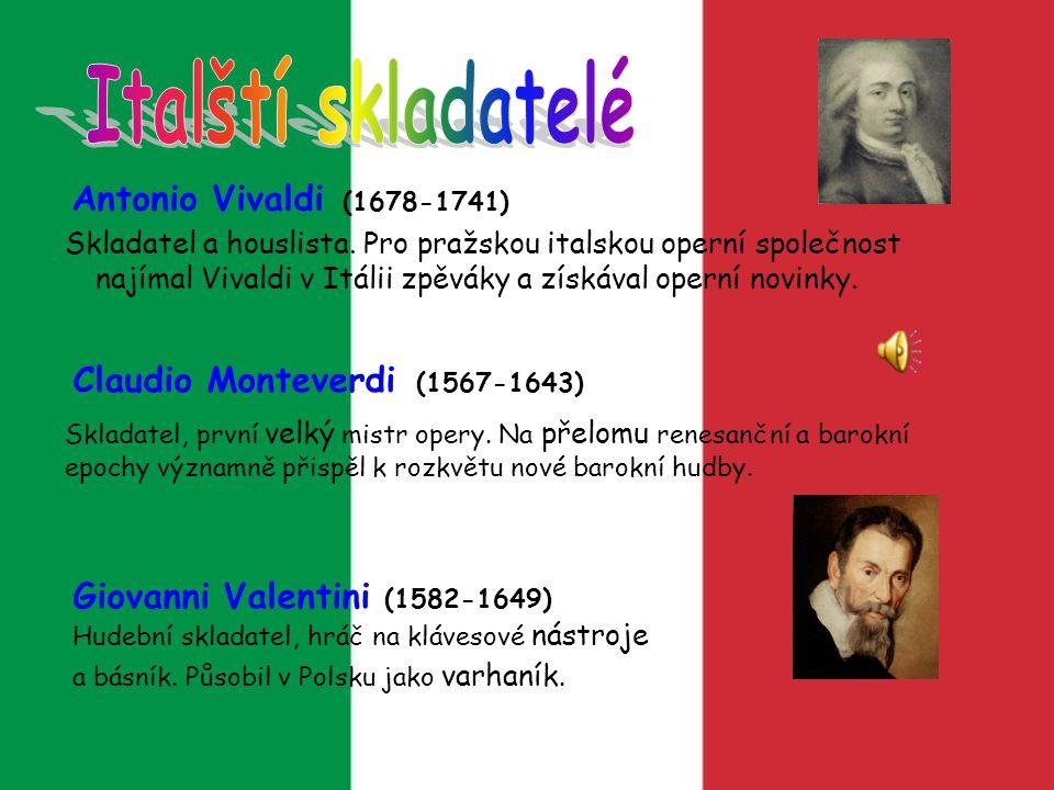 Italští skladatelé Antonio Vivaldi (1678-1741)