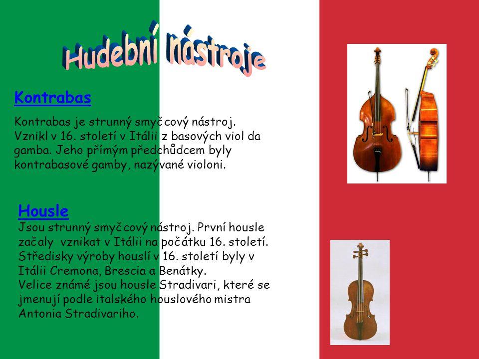 Hudební nástroje Kontrabas Housle