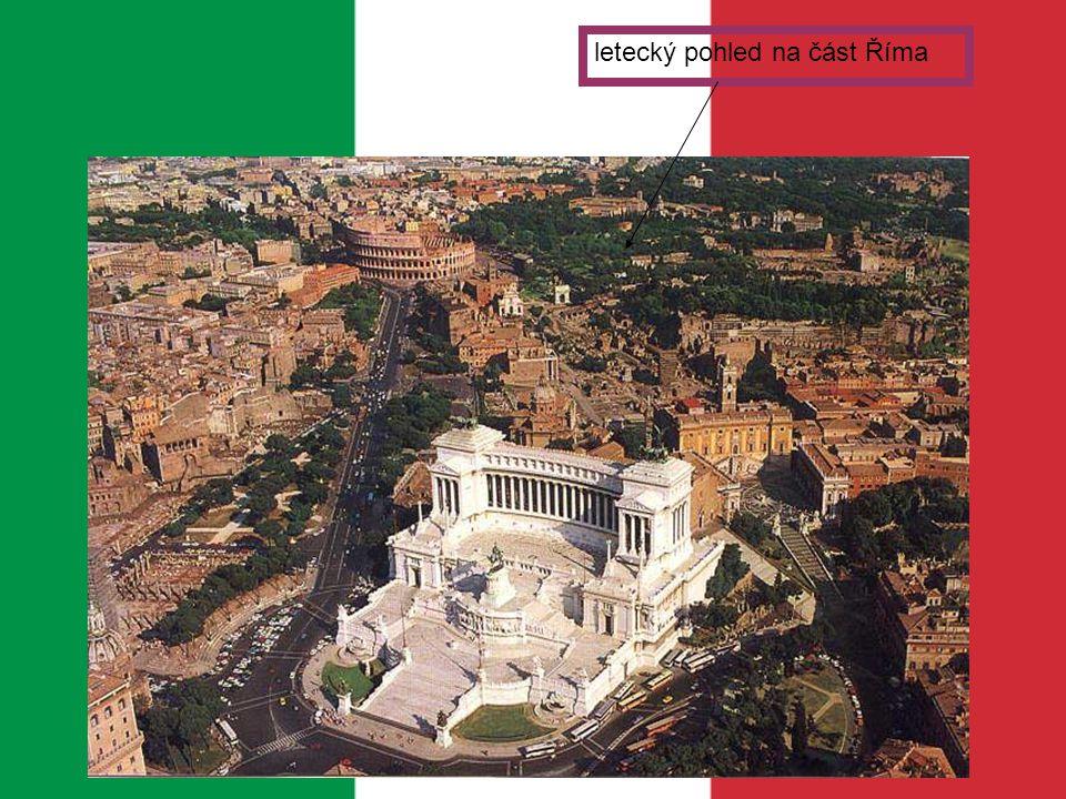 letecký pohled na část Říma