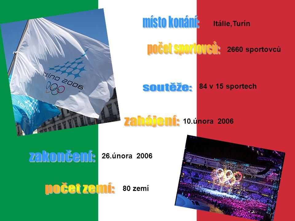 zahájení: zakončení: počet zemí: Itálie,Turín počet sportovců: