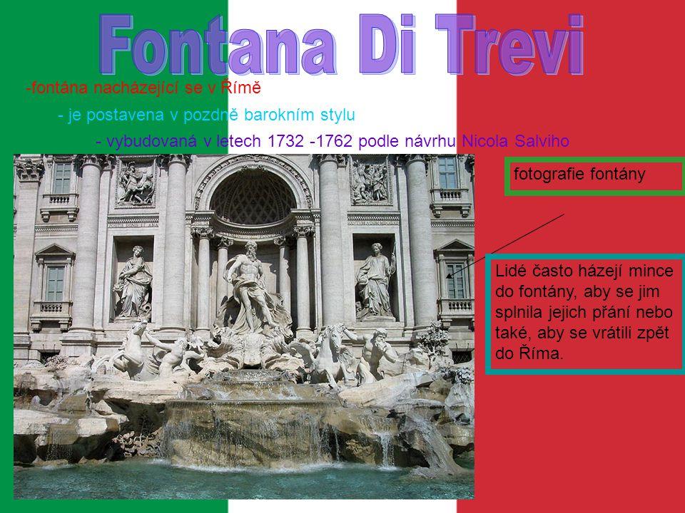 Fontana Di Trevi -fontána nacházející se v Římě