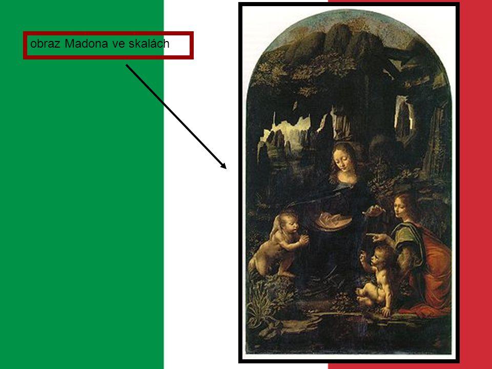 obraz Madona ve skalách