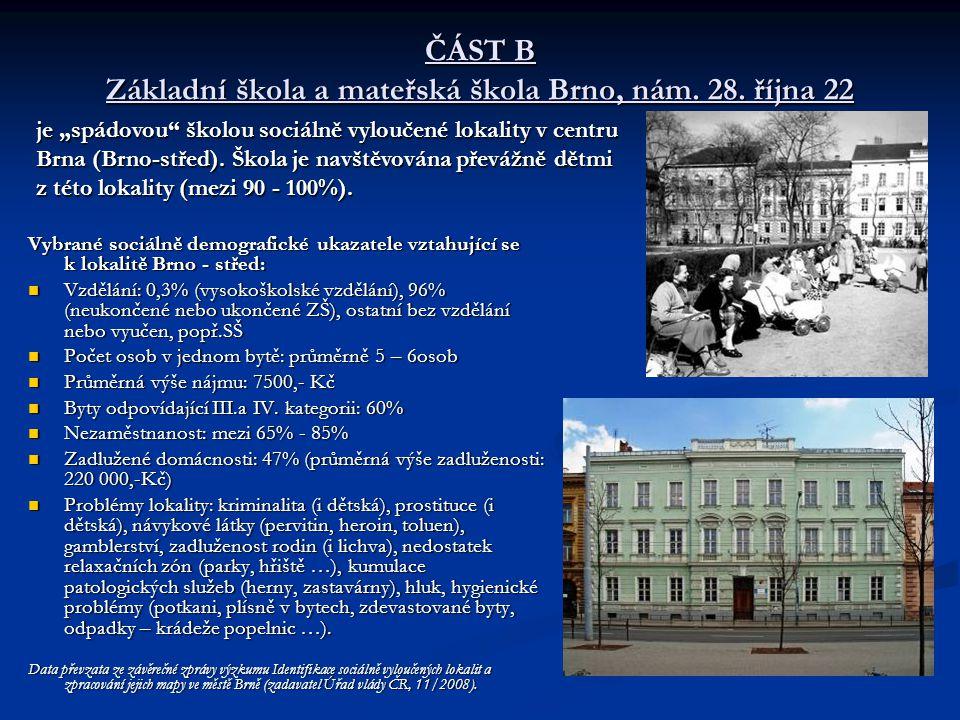 ČÁST B Základní škola a mateřská škola Brno, nám. 28. října 22