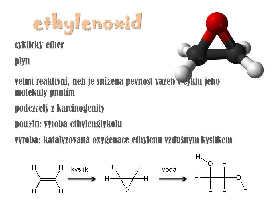 ethylenoxid cyklický ether plyn