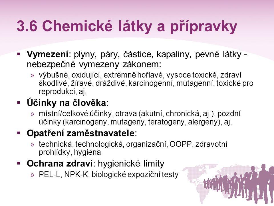 3.6 Chemické látky a přípravky