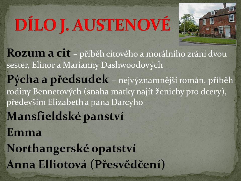 DÍLO J. AUSTENOVÉ