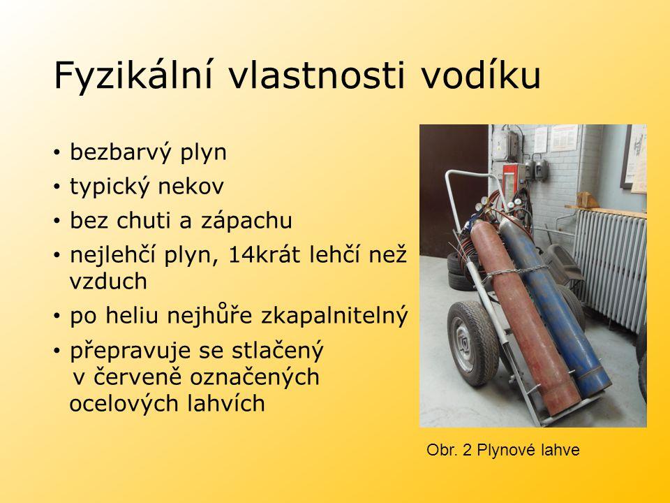 Fyzikální vlastnosti vodíku