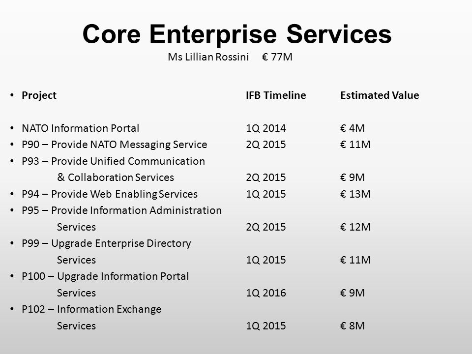 Core Enterprise Services