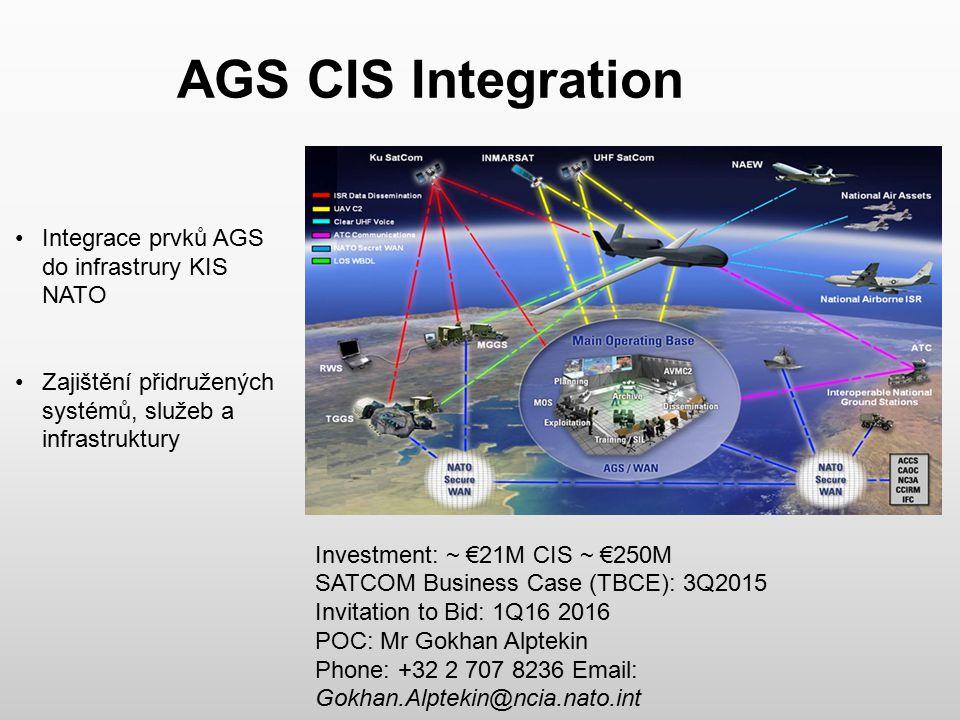 AGS CIS Integration Integrace prvků AGS do infrastrury KIS NATO