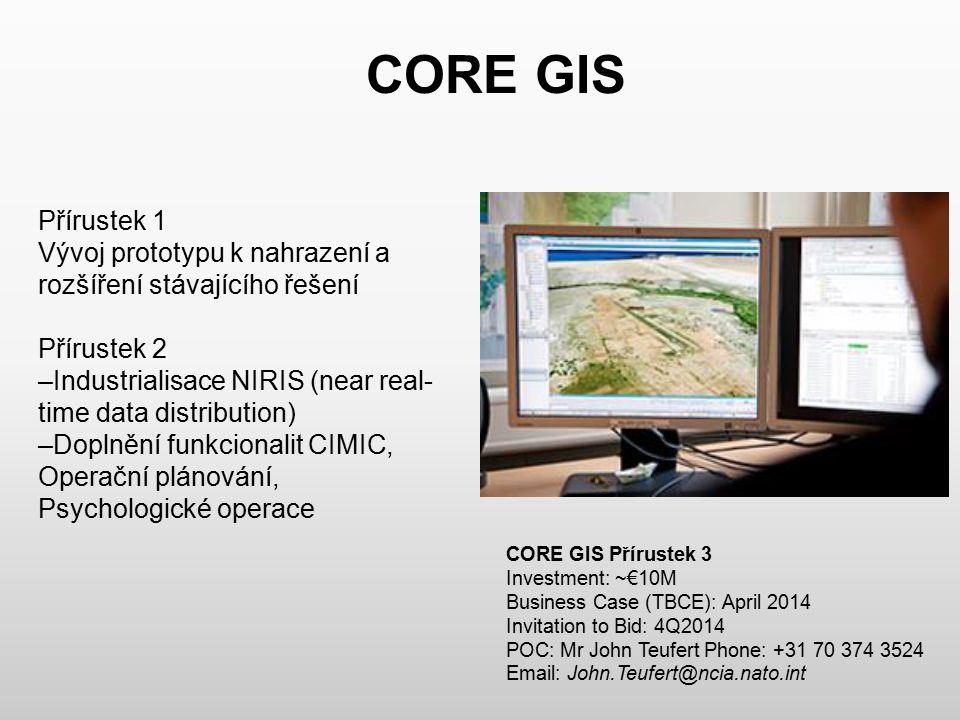 CORE GIS Přírustek 1. Vývoj prototypu k nahrazení a rozšíření stávajícího řešení. Přírustek 2.
