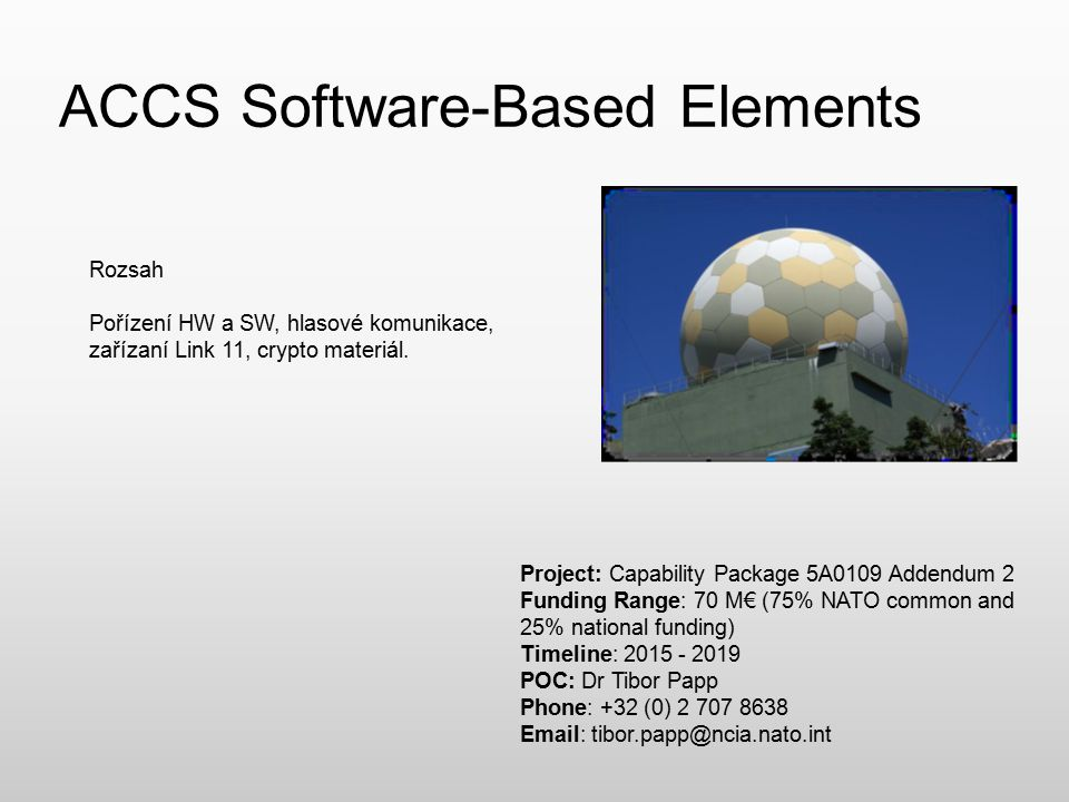 ACCS Software-Based Elements