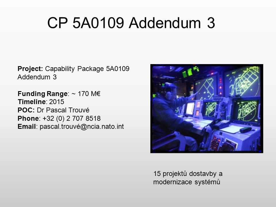 CP 5A0109 Addendum 3 Project: Capability Package 5A0109 Addendum 3
