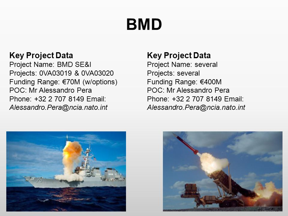 BMD Key Project Data Key Project Data Project Name: BMD SE&I