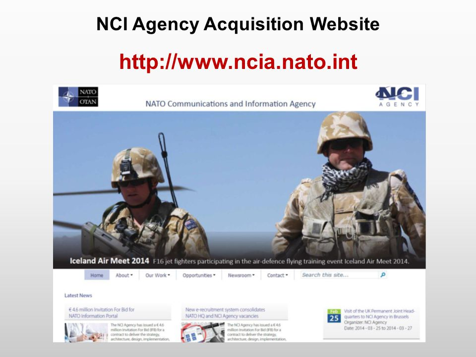 NCI Agency Acquisition Website