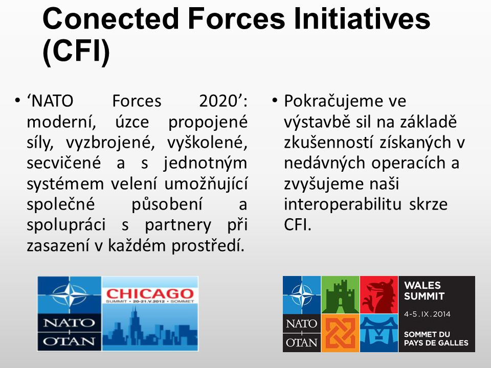 Conected Forces Initiatives (CFI)