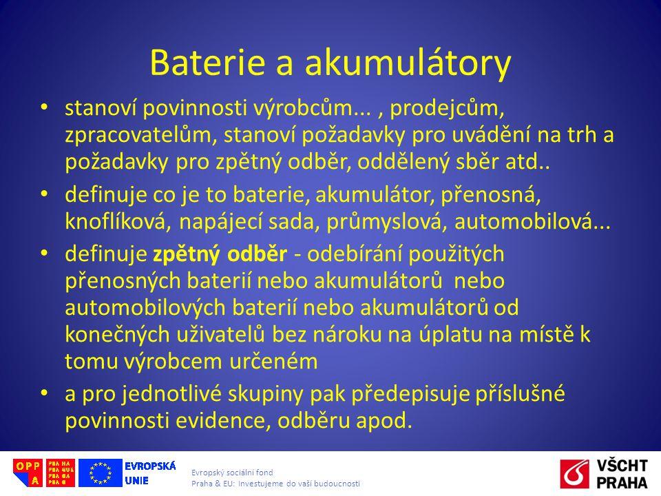 Baterie a akumulátory