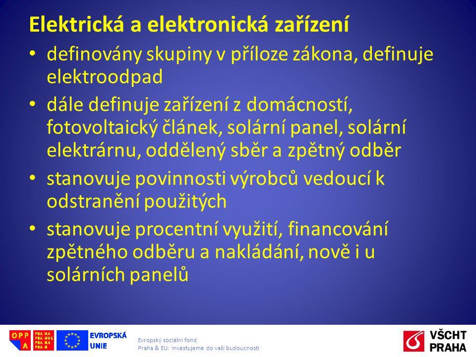 Elektrická a elektronická zařízení