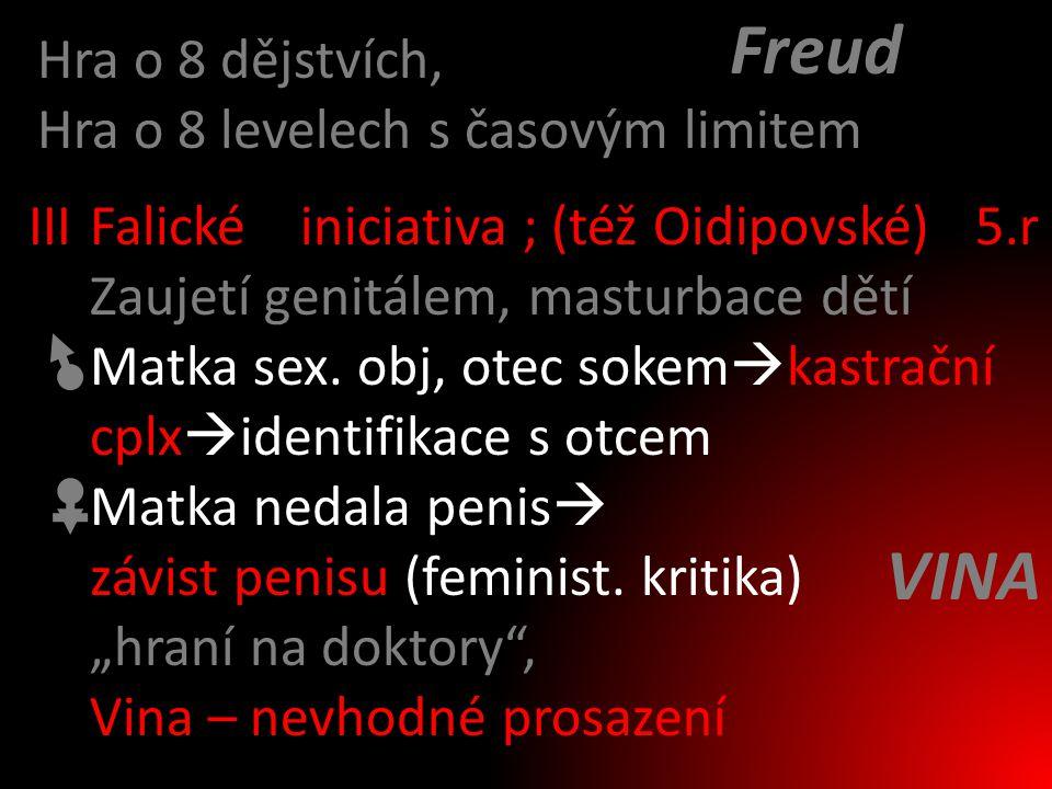 Freud VINA Hra o 8 dějstvích, Hra o 8 levelech s časovým limitem III