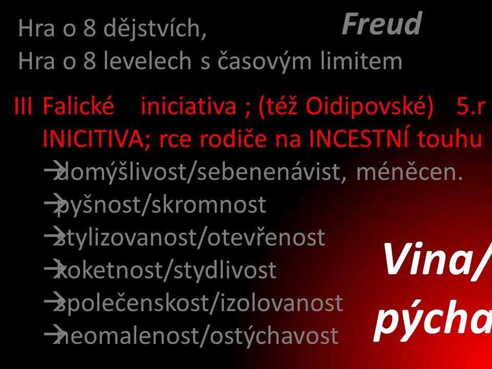 Vina/ pýcha Freud Hra o 8 dějstvích,