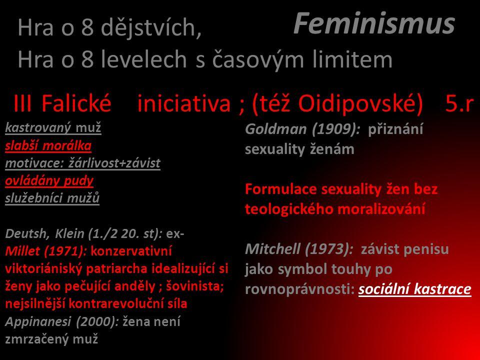 Feminismus Hra o 8 dějstvích, Hra o 8 levelech s časovým limitem III