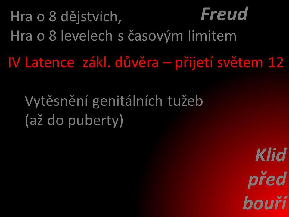 Freud Klid před bouří Hra o 8 dějstvích,